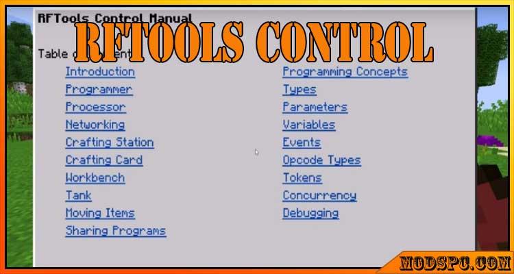 RFTools Control Mod 1.16.5/1.15.2/1.12.2