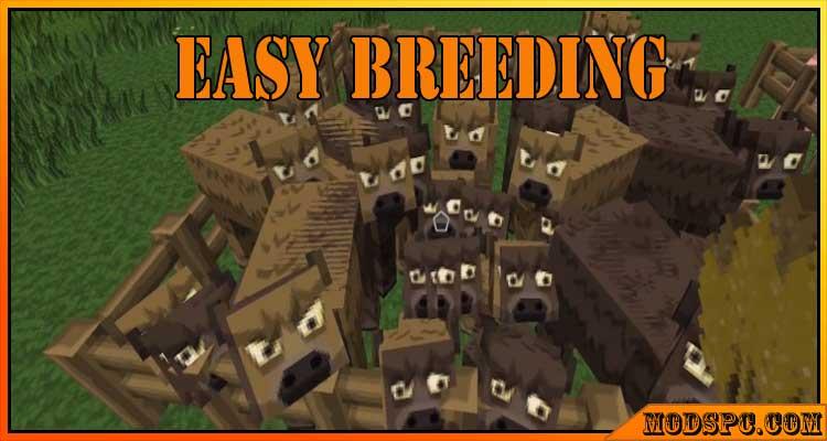 Easy Breeding Mod 1.17.1/1.16.5/1.14.4